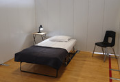 TempWall room in a temporary community recovery centre